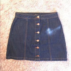 NWOT Forever 21 button up denim miniskirt